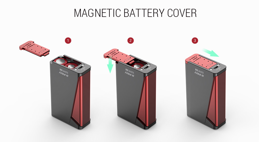smok h-priv kit magnetic battery cover