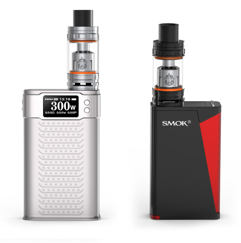 smoktech tfv8 works great with h-priv and koopor primus 300w