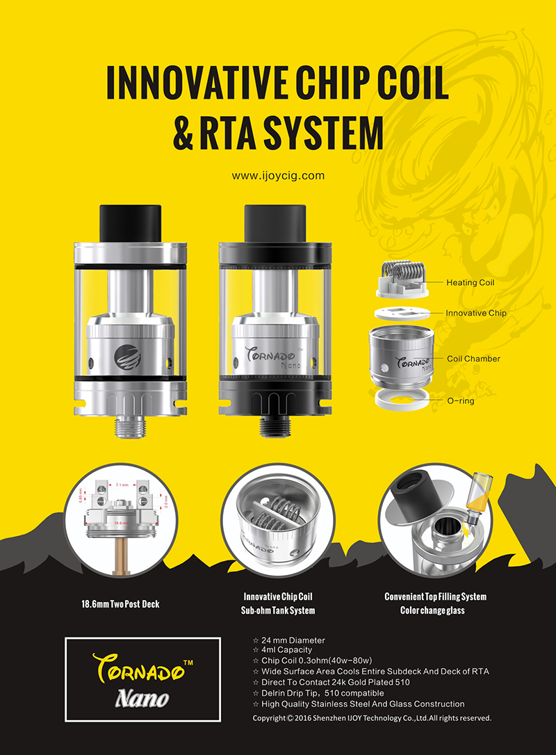 tornado nano rta with chip coil