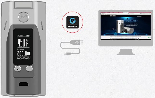 Wismec Reuleaux RX200S Upgradeable Firmware