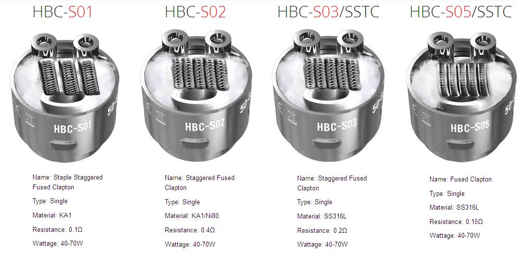 geekvape eagle HBC-S01,HBC-S02,HBC-S03/SSTC,SS316L,HBC-S05/SSTC coil