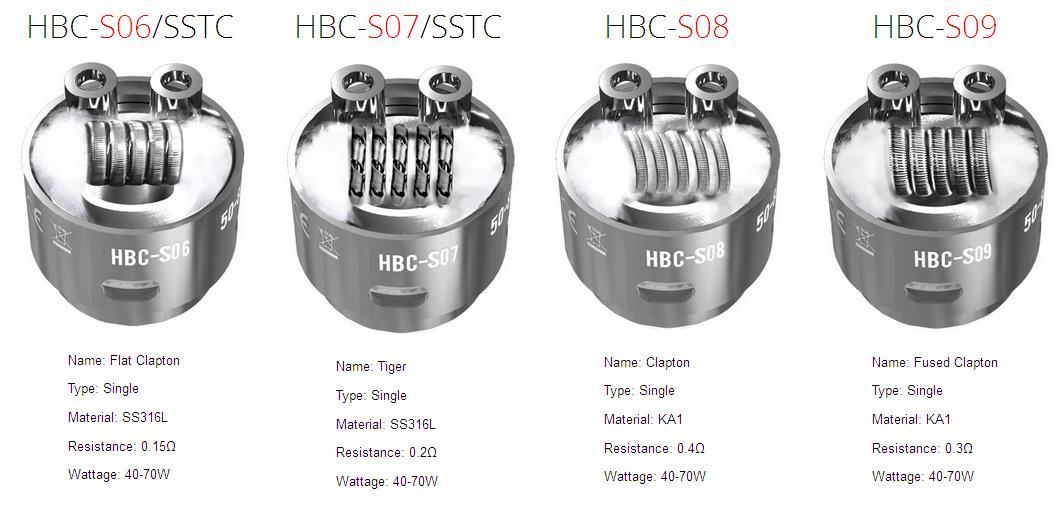 geekvape eagle HBC-S06/SSTC,HBC-S07/SSTC,HBC-S08,HBC-S09