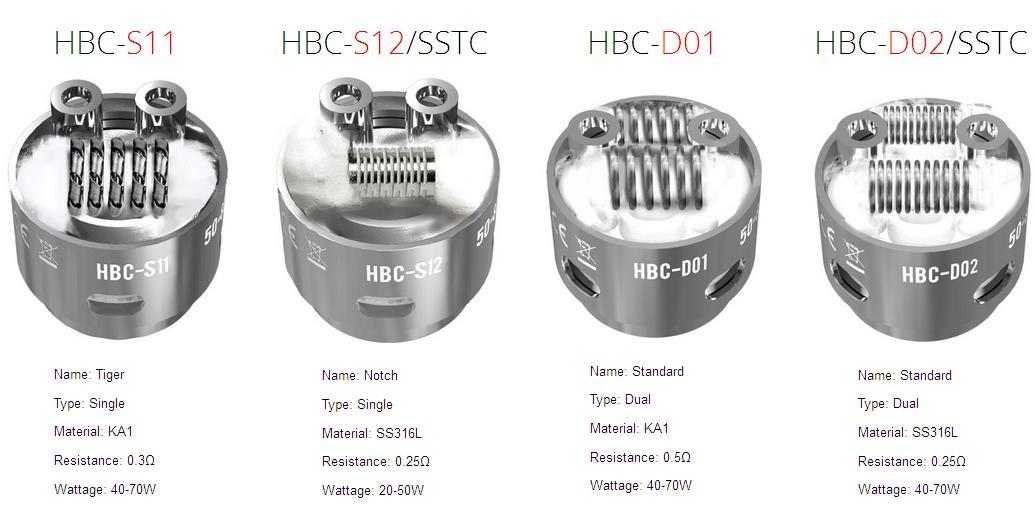 geekvape eagle HBC-S11,HBC-S12/SSTC,HBC-D01,HBC-D02/SSTC