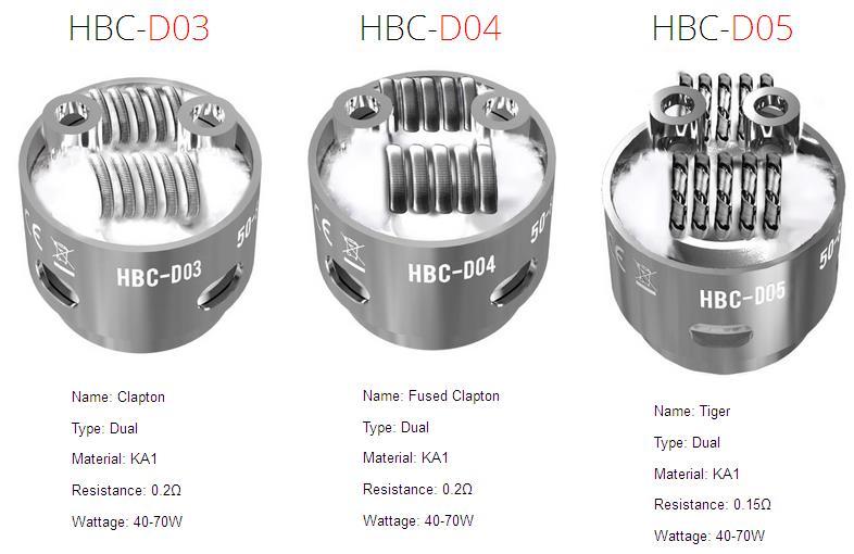HBC-D03,HBC-D04,HBC-D05 by geekvape eagle