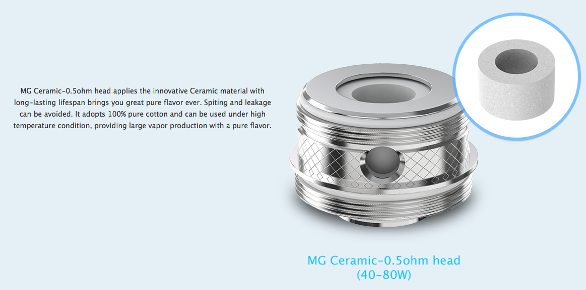 MG Ceramic-0.5ohm head for joyetech ultimo