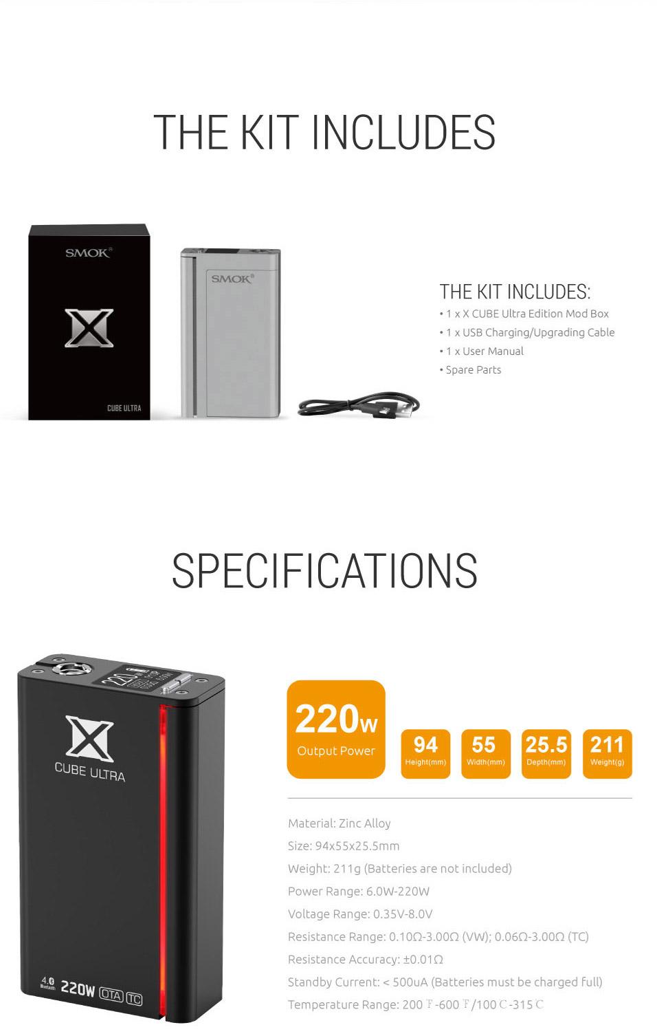 Smok Xcube Ultra 220w mod