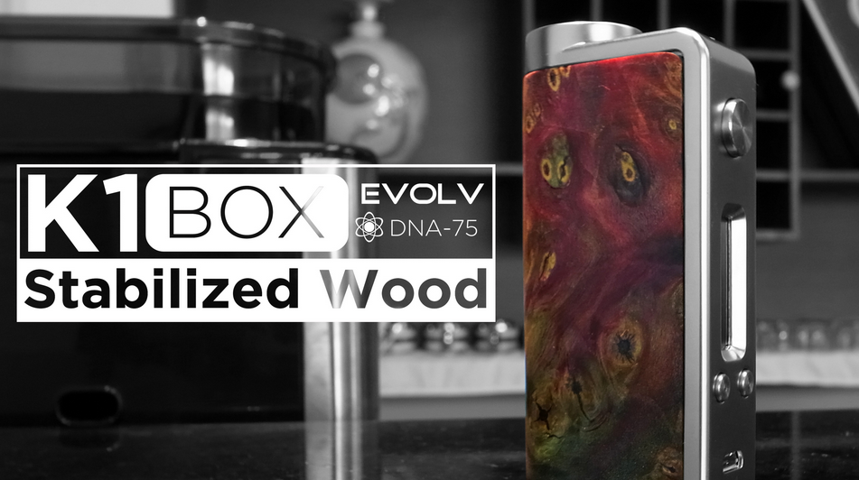 Kanger K1 BOX with Unique stabilized wood