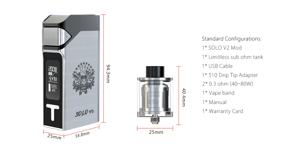 IJOY SOLO V2 Full Kit