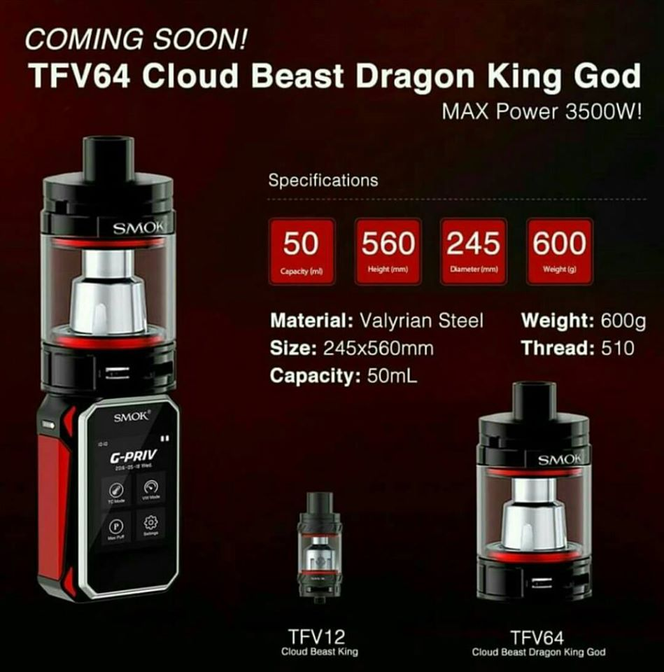 Where To Buy Smok Tfv64 Cloud Beast Dragon King God With