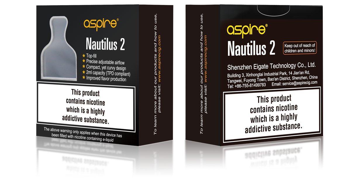 Nautilus 2 Package contents