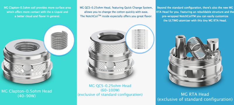 Joyetech ULTIMO Tank Replacement Coil Heads