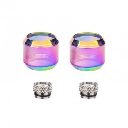 VooPoo UFORCE T1 T2 Tank 8ml Extension Kit Two Adapter Two Rainbow Bulb Glass