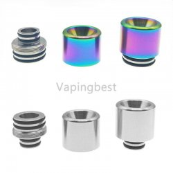 2 In 1 Detachable 810 510 Drip Tip Anti Spit Back With Filter Stainless Steel Rainbow Drip Tip