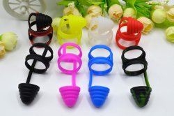 Universal Silicone Drip Tip Anti Dust Cap Cover Vape Band for bubble glass 510 810 RTA RDA Tank