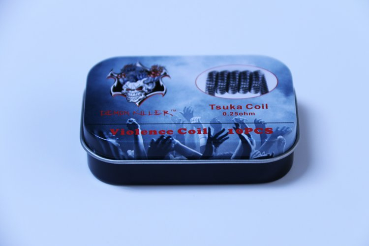 Demon Killer kanthal A1 Tsuka Coil 0.25ohm 10pcs - Click Image to Close