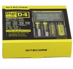 Authentic Nitecore Digicharger D4 Battery Charger