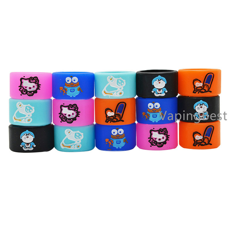 16x10mm Cartoon Vape Band Decorate Rings For Ego Pen Kits (5PCS)