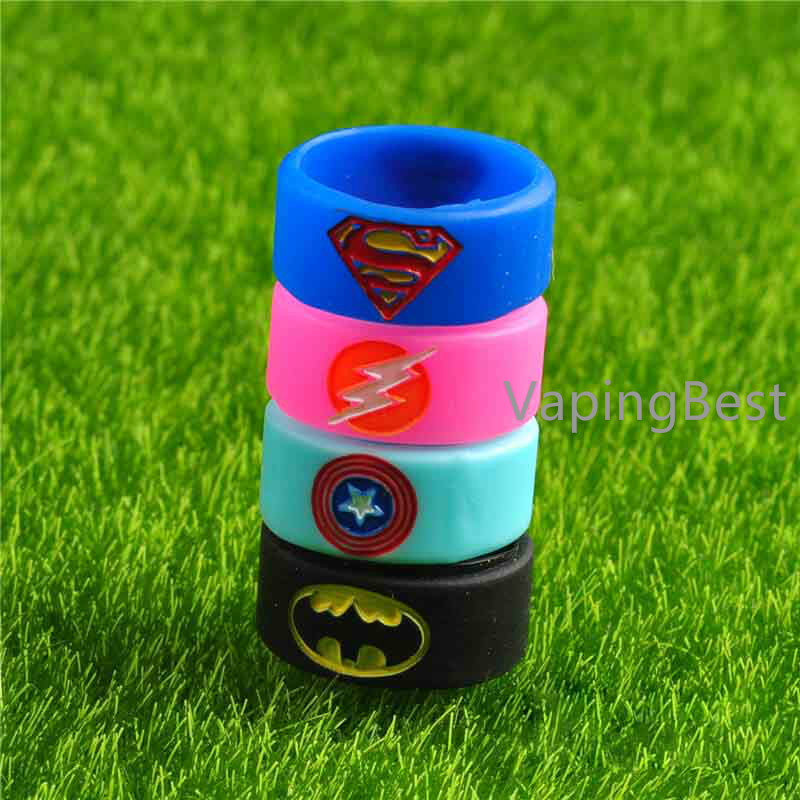 22x10x1.5mm Captain America Vape Band Decorate Ring For RBA RDA Atomizers (5PCS)