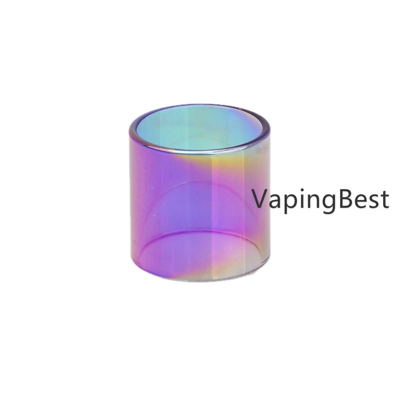 2PCS Rainbow Replacement Pyrex Clear Glass Tube For GeekVape Zeus X RTA 2ml
