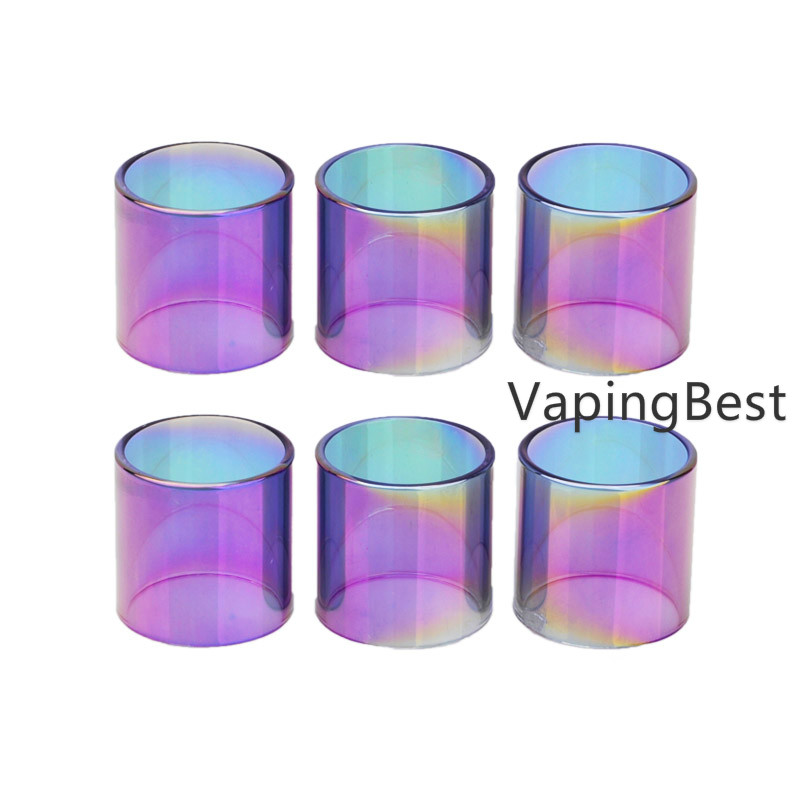 2PCS Rainbow Replacement Pyrex Clear Glass Tube For Geekvape zeus Sub ohm tank 3.5ml
