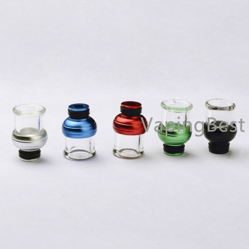 Colorful Aluminum+Glass Hybrid Mouthpiece 510 Drip Tip for Innokin Ares & All 510 Sized Tanks