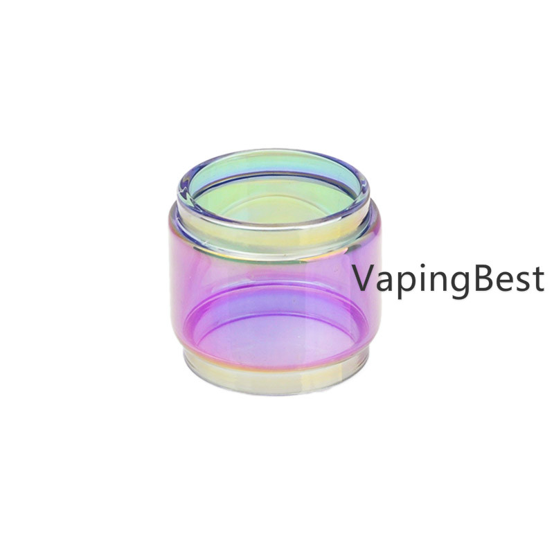 Replacement Colored Rainbow Fatboy Bulb Glass Tube For SMOK Vape Pen 22 Tank (2PCS)