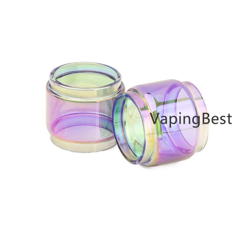 TFV12 Atomizer Replacement Colorful Rainbow Bubble Fatboy Glass Tube (2PCS)