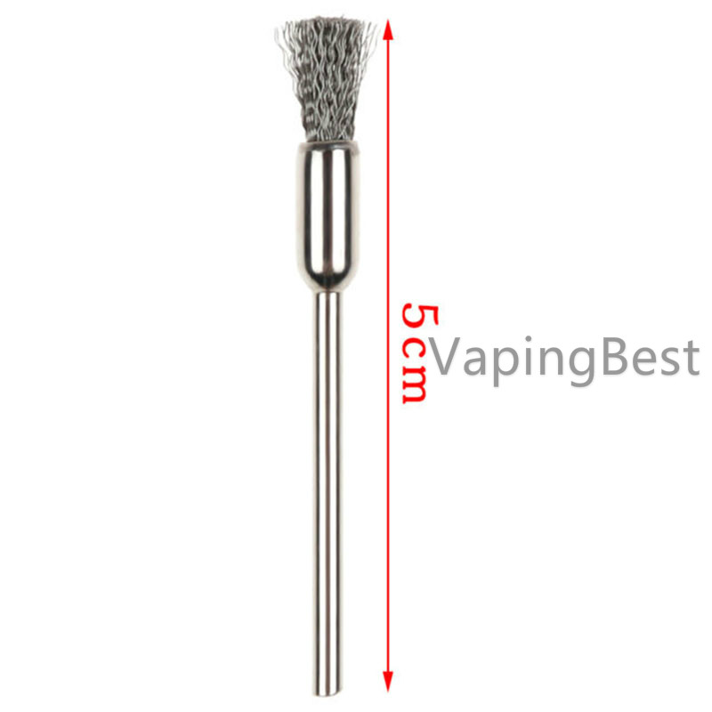 Vapjoy 5cm Stainless Steel Cleaning Brush Tool for RDA/RDTA Coil Tank (2PCS)