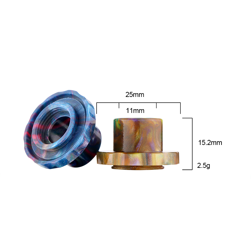 buy Wide Bore Resin Drip Tip for Aspire Cleito 120 tank 2PCs