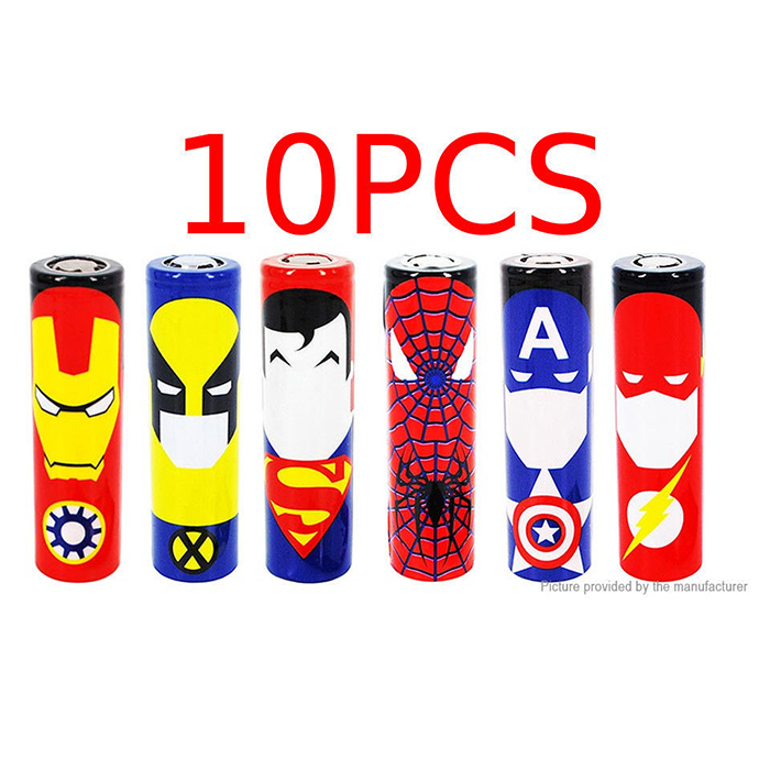 Custom 18650 battery wrap shrink insulator PVC skin 10PCs
